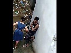 Indian School Girl Hidden In the air Backside