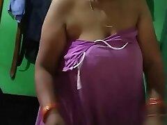 Tamil Aunty Dressing 3