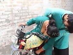 Desi bike ride, woman hither a very hawt ass