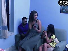 Hot and sexy desi bhabhi screwed overwrought hubby
