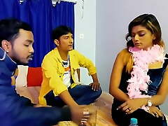 Threesome Group lovemaking by Indians
