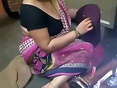 indian aunty having relaxation