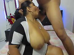 Indian Wife gaping void throats husband's dick