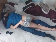 Desi Housewife At hand Bed