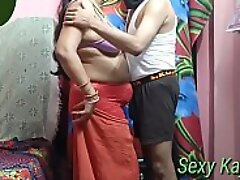 Hindi audio horny Indian mother enjoy with her laddie during lockdown drinking squirt in her mouth