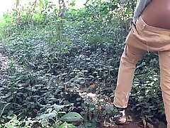 Indian Stepsister In Forest Caught Me Naked Outdoors