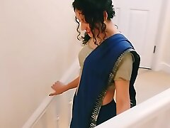 Desi young bhabhi strips from saree to please you Christmas verified POV Indian