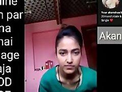 Indian school girl making Selfie video for her boyfriend