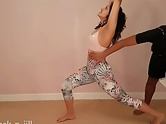 Big ass teen girl tricked, molested, used, abused and manufactured to suck cock by gym trainer full HD POV Indian