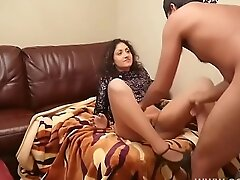 Going to bed big ass girlfriend fast and furious after Christmas party massive creampie in tight pussy POV Indian