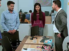 Indian office girl drilled