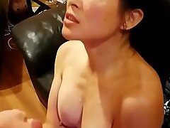 Chinese American Mom Taking Huge Ejaculation From Chubby White Dick