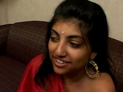 Indian Tolerant in Red Saree