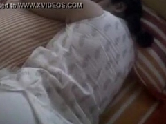 fat ass indian wife sleeping in tight leggings visible butt show