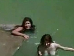 Bollywood actress bathing in nature's garb