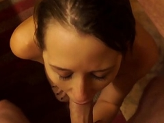 Cutie Zoey Laine Slamms With Her Parent