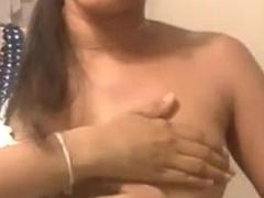 Sexy Indian desi Big boobs -Amaya squeezing boobs