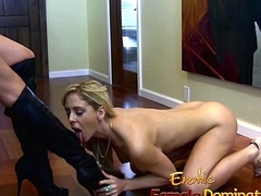 Mistress Brandi Lyons tests her slaves limits in a s&m session-6