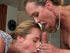 Teen Taylor Whyte learns from MILF Brandi Love