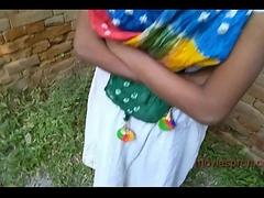 Outdoor teen girl Puja Gupta going to bed