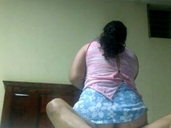 Indian bhabhi riding with her large booty making his boyfriend glad