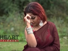 Red Be alive Bong Girl in Saree