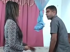 Indian mom fuck with Strenger