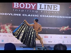 Indian feminine bodybuilder strip dance Europa Bhowmik