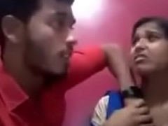 Indian girl giving a kiss say no to boyfriend and showing say no to boobs and gets sucked