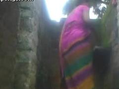 Indian municipal aunty bath