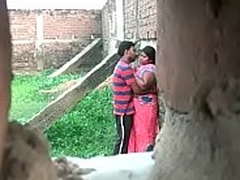 Desi aunty affair with young boy at a secret place
