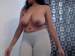 Milky boobed NRI girl dancing minimal chip getting drunk