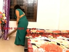 Indian usherette imitation sexual connection approximately glum saree