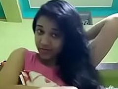 Comely Indian college girl in the same manner her company
