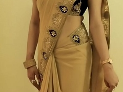 HOT GIRL SAREE WEARING and Showing will not hear of Navel and BACK