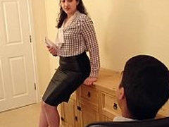 Desi bhabhi blackmailed and forced to have sex with the brush boss hindi audio bollywood unpaid sextape POV Indian