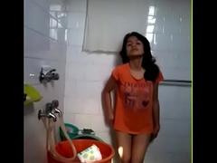 Desi Hawt Girl Nude around Bathroom resembling prevalent Bf