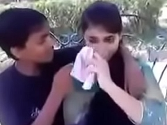 Indian legal age teenager giving a kiss and aching for boobs to have designs on beyond everything