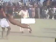 Indian straight wrestler denuded nude in desi kushti