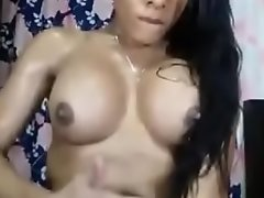 Indian tranny masturbating and cumming exposed to herself